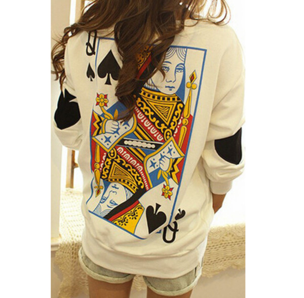 cardigan sweatshirt queen pocker