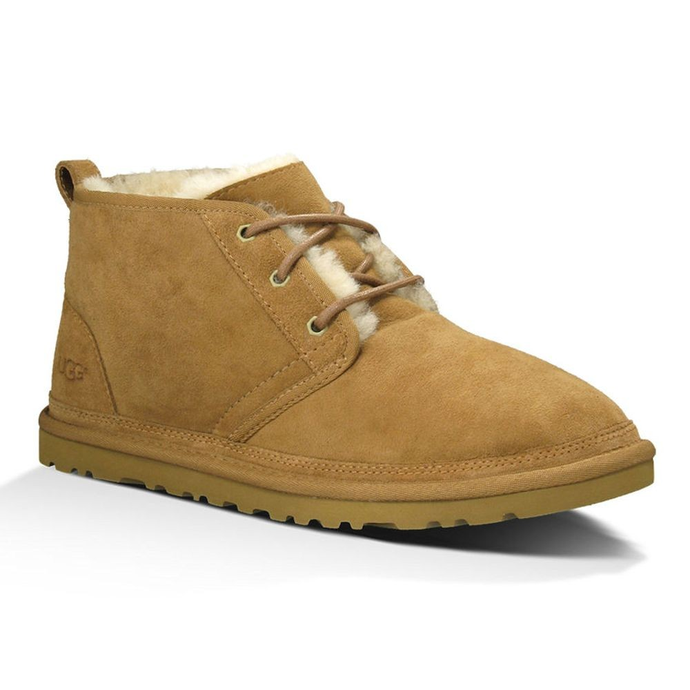 UGG Olive Pebbled Leather Hi Trainers Old Chestnut