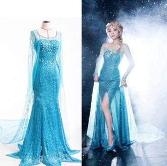 dress women dress frozen elsa dress
