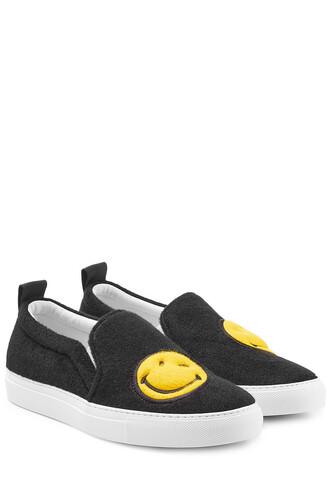 sneakers wool black shoes