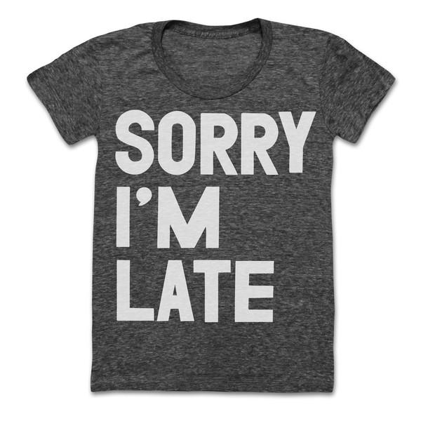 Sorry I'm Late Tee – #NYLONshop
