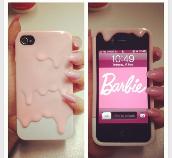 phone cover iphone case pink barbie tumblr cute style
