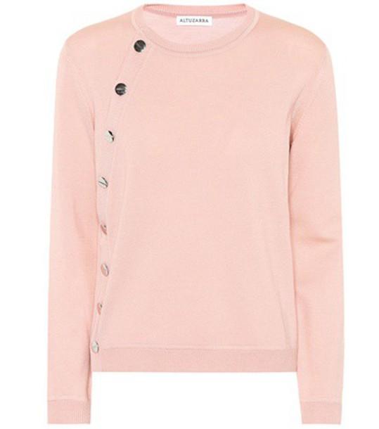 Altuzarra cardigan cardigan wool pink sweater