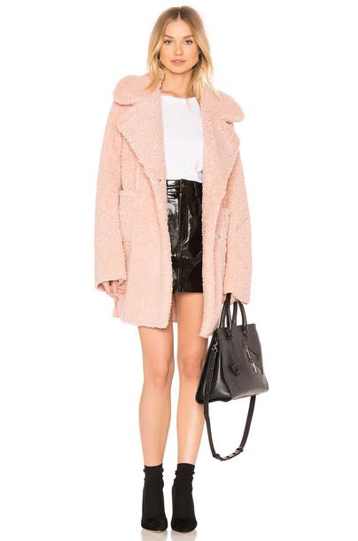 J.O.A. coat blush