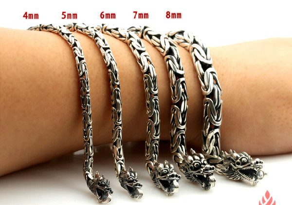 jewels dragon bracelet 925 sterling silver handmade tibet tibetan chain