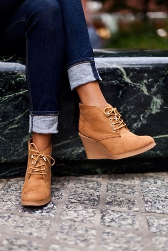 shoes tan wedges shoes tan wedges shoes wedge shoes boots wedges beige shoes boot wedges fall outfits boots ankle boots fall outfits booties with heals