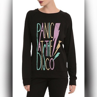 shirt panic at the disco sweater black colorful