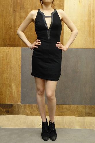 dress sexy dress little black dress vneck dress black mini dress