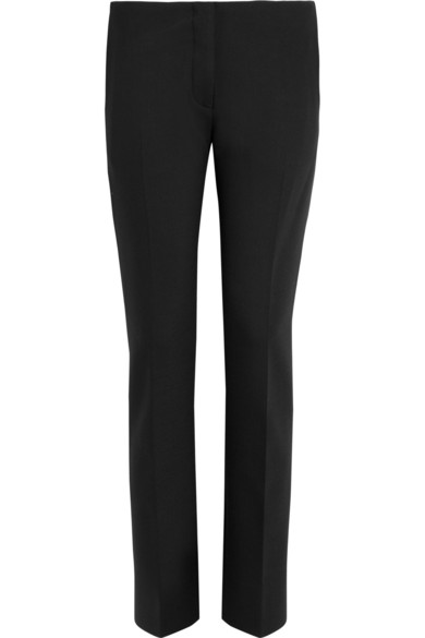 Acne | Cropped mid-rise wool-blend twill pants  | NET-A-PORTER.COM