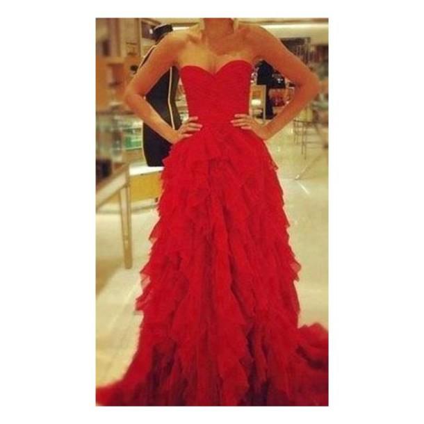 dress red dress ruffle dress ruffle fabulous cute