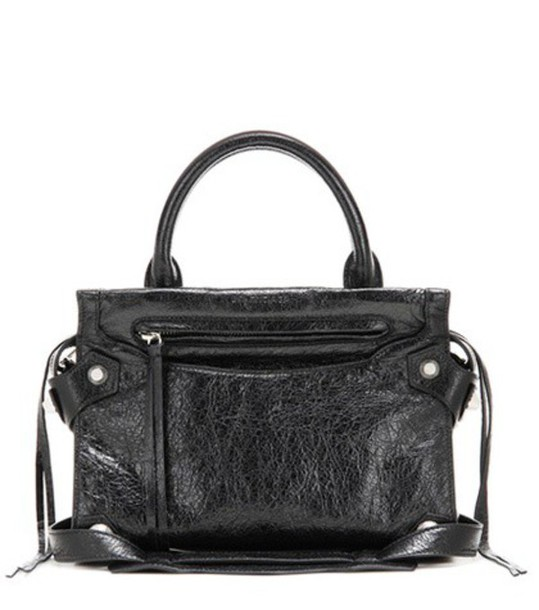 Balenciaga Mute City Xs Mini Leather Crossbody Bag in black