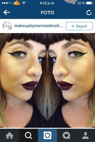 make-up mac cosmetics lipstick dark grunge goth benefit