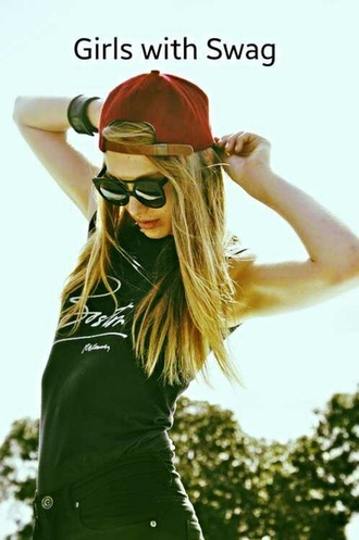 t-shirt tee tumblr clothes hipster grunge summer style cap sunglasses street style hat