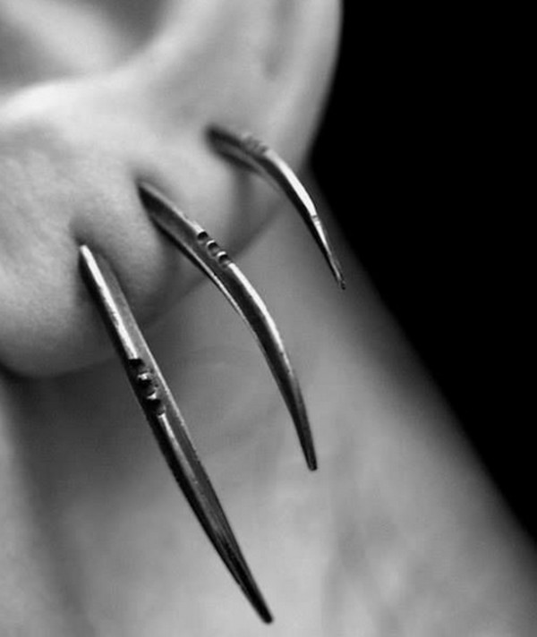 jewels piercing wolverine punk goth hipster goth claws hugh jackman x-men piercing ear