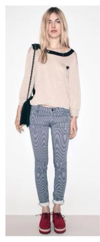 sweater hipster goth hipster hippie stripes striped pants black black bag boho bohemian girly cute