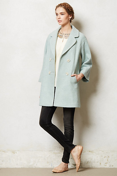 Cornflower Trapeze Coat - anthropologie.eu