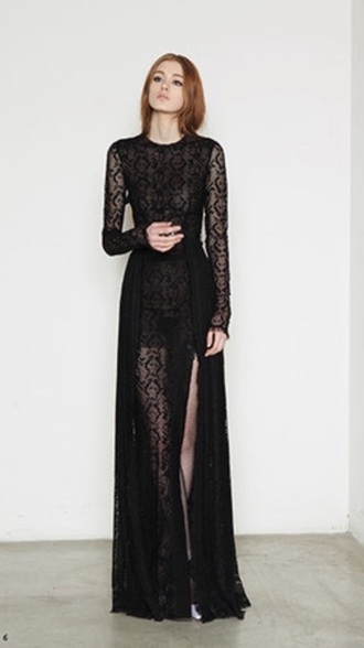 dress black lace dress lace designer long evening gown gown occasion wear mesh formal formal party dress help black dress formal dress
