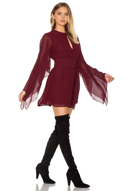 Keepsake dress back burgundy