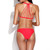 Watermelon Red Eiffel Tower Multi-Strap Bikini Set | Emprada