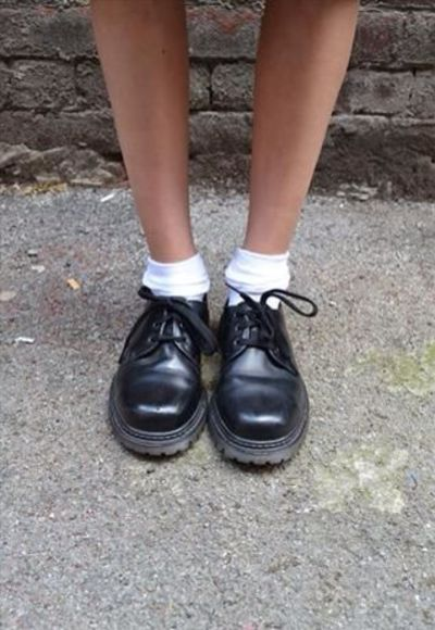shoes black shiny soft grunge minimal