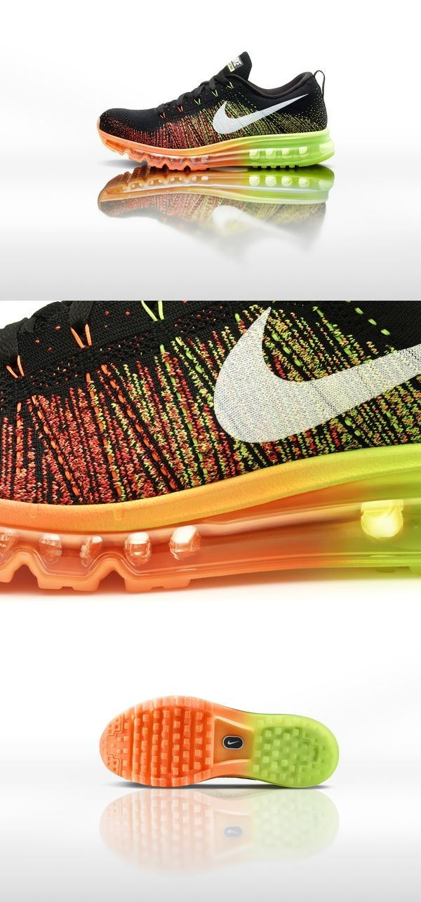 shoes nike colorful black orange green