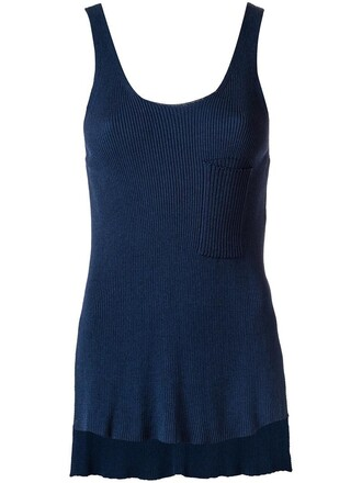 tank top top women blue
