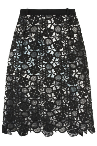 skirt lace black