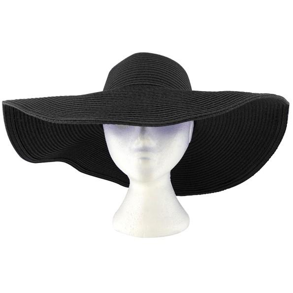 Black Floppy Hat - Hats