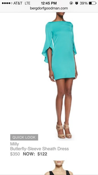 dress milly. turquoise dress