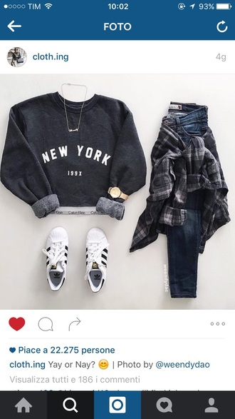 sweater new york city cardigan girl grey swag sweater swag gray hoodie