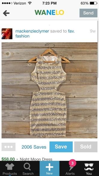 open sides striped dress short party dresses