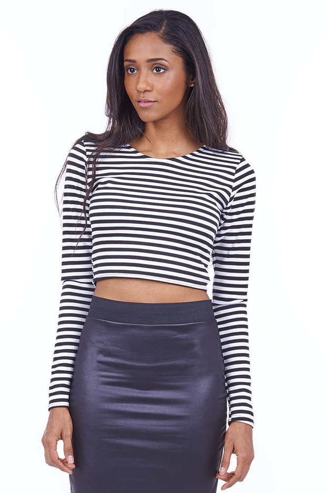 Earn your stripes crop top