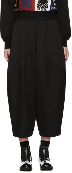 Comme Des Garçons Black Wool Volume Trousers