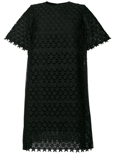muveil dress embroidered women cotton black