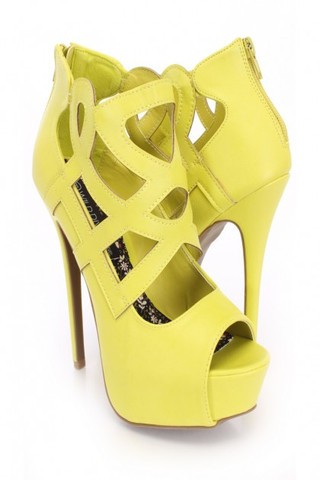Lime Jacklyn-49 Cut Out Peep Toe Bootie                           | City Trends