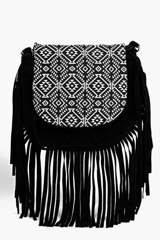 bag fringed bag crossbody bag black bag purse fringed cross body bag little bag