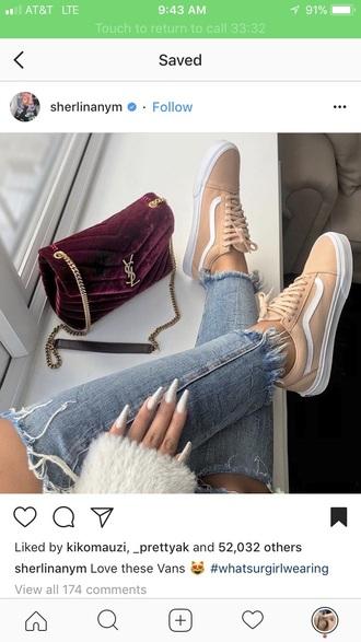shoes tan vans