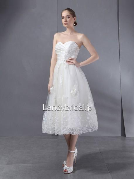 dress aライン ウェディングドレス ハートネック