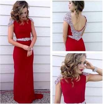 dress red dress red prom dress prom gown prom gown silver sequins silver sequin dress silver sequins