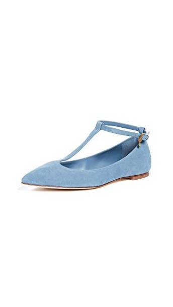 Tory Burch flats blue shoes