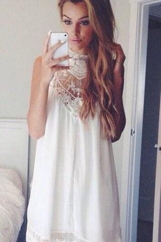 dress cute dress white dress chic