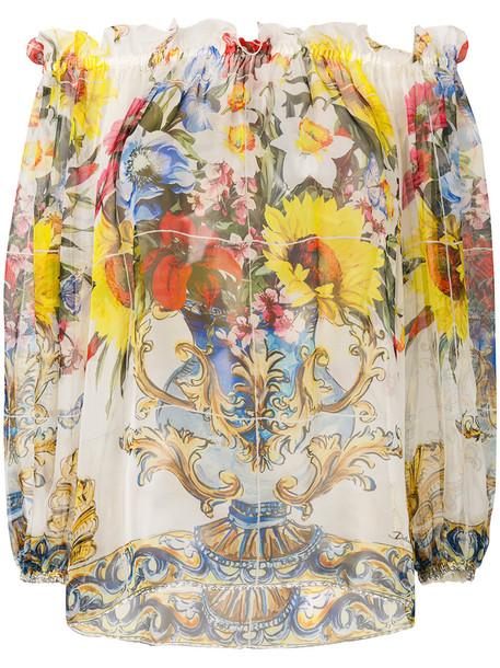 Dolce & Gabbana blouse women silk top