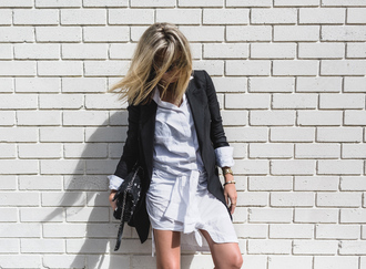 oracle fox blogger shirt skirt jacket shoes bag