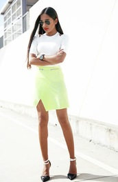 inside in inside out,skirt,top,shoes,sunglasses,bag,jewels,dress