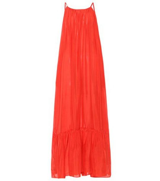 KALITA dress maxi dress maxi silk red