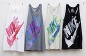 tank top,nike,athletic,bag,shirt,fitness,grey,black,tie dye,top