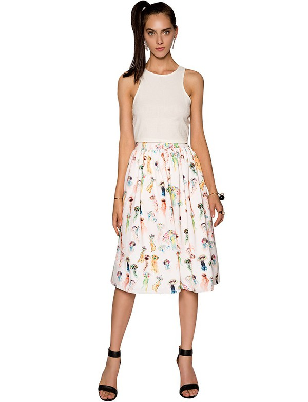 Print Midi Skirt - Skirts