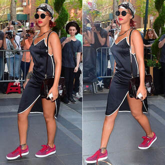 dress sneakers rihanna sunglasses shoes