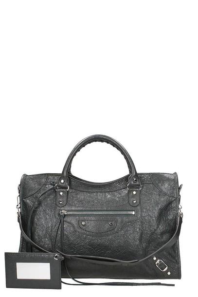 Balenciaga classic bag silver grey
