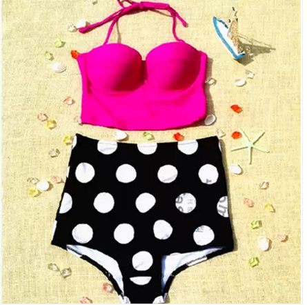 Retro vinatge cute bikini / tourtownbeach